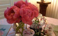Grande` Coral Pink Peonies
