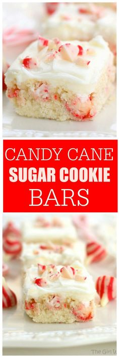 Candy Cane Kisses Bars | The Girl Who Ate Everything