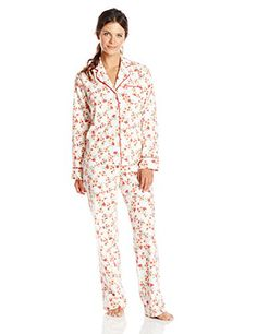 Carole Hochman Womens Flannel Pajama Floral Berry Small -- Check out the image by visiting the link.