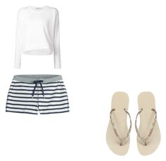 qqq by marina-lage on Polyvore featuring moda, T By Alexander Wang and Havaianas