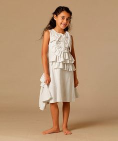 This White Emma Dress - Toddler & Girls by KidCuteTure is perfect! #zulilyfinds