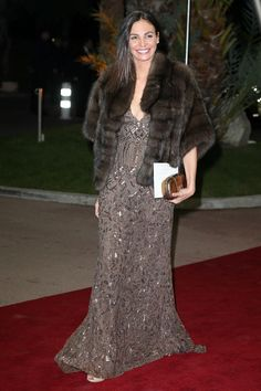 Ines Sastre in ELIE SAAB Resort 2013 for the Gala Night of the Association Monaco Against Autism.