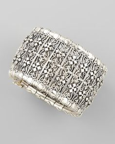 Classic Sterling Silver Woven Cross Cuff by Konstantino at Neiman Marcus.  #MillionDollarShoppersDanielle.