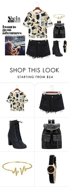 """""""SheIn T-Shirt"""" by fashionchic123 ❤ liked on Polyvore featuring Gypsy Soul, Timberland, Bling Jewelry, Marc by Marc Jacobs and shein"""