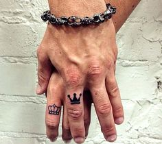 Next tattoo King and Queen finger tattoos on the ring finger I will be g