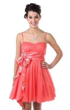 glitter spray short prom dress with a fit and flare circle skirt.... LOVE this