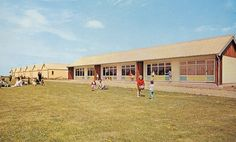 The Dining Hall and chalets at Maddiesons Golden Sands Holiday Camp in It later became a Hoseasons camp. Butlins Holidays, Vintage Holiday, Nostalgia, Camping, Mansions, Dining, Sands, House Styles, Home Decor