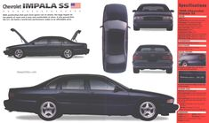 '96 Chevy Impala SS - The prettiest ugly car ever. So good I want one really bad.