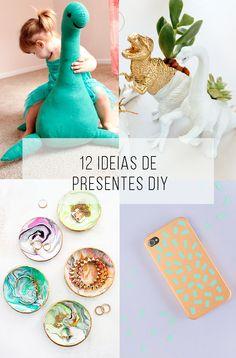 12 ideias de presente faça-você-mesmo! // Inspiração e tutorial (is) faça você mesmo: presentes de última hora! // palavras-chave: faça você mesma, DIY, inspiração, decoração, ideia, tutorial, carimbo, estampa, pattern, mesa, toalha de mesa, caderno, tecido, almofada, blusa