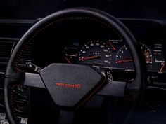 1984 Toyota Carina GT-TR – love the red stitching