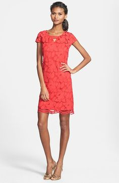 Taylor Dresses Keyhole Lace Shift Dress | Nordstrom   Inspirations | Bride & Groom