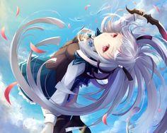 absolute duo and anime image Absolute Duo, All Anime, Manga Anime, Anime Art, Anime Girls, Light Novel, Trinity Seven, Couple Drawings, Cosplay