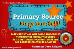 Primary source activity cards