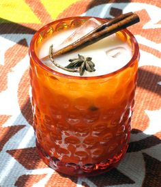 I really want one of these. Iced Chai with Rum. Yum.