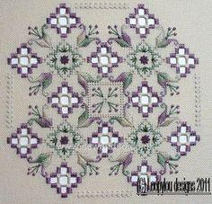 Buy+Purple+Delight+Hardanger+Chart+Pack+Online+at+www.sewandso.co.uk