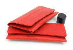 Tabakbeutel - Tabaksbeutel Tabaktasche Dreherbeutel Rot - ein Designerstück von Monti-lederdesign bei DaWanda