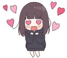 It is a cute sticker of kurumi-chan. Dibujos Anime Chibi, Cute Anime Chibi, Anime Girl Cute, Anime Neko, Kawaii Anime Girl, Anime Art Girl, Manga Anime, Cute Cartoon Wallpapers, Animes Wallpapers