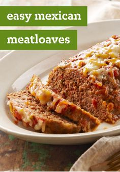 Easy Mexican Meatloaves – Here's a tasty twist on classic American meatloaf recipe, with a blend of Mexican-style cheeses and chunky salsa.