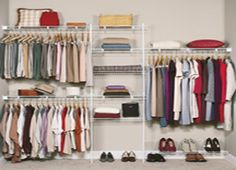 Inexpensive Closet Maid Shelving With SuperSlide 5 Ft. To 8 Ft. Metal White Closet  Organizer Kit And 100 Lbs. Weight Capacity.