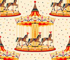 Seamless pattern with carousel and horses. Vector illustration with pony, merry-go-round on the stars background. Horse Illustration, Watercolor Illustration, Easy Christmas Crafts For Toddlers, Round Tattoo, Fun Fair, Merry Go Round, Carousel Horses, Card Patterns, Fabric Painting