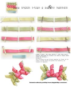 Paso a paso para hacer rizos con cintas para moños o lazos
