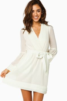 ShopSosie Style : Rorey Wrap Dress in Ivory (It reads more like a super nice bath robe rather than a dress.)