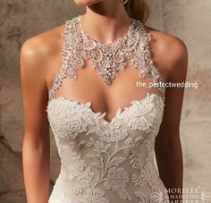 Shop Morilee's Artistic Embroidered Appliques on Net with Crystal Beading Morilee Bridal Wedding Dress. Wedding Dresses and Bridal Gowns by Morilee. Beading and an illusion back and neckline make this form fitting wedding Dress truly unique. Gorgeous Wedding Dress, Wedding Looks, Dream Wedding Dresses, Bridal Dresses, Cute Dresses, Beautiful Dresses, Bridal Style, Mori Lee, Bridal Galleria