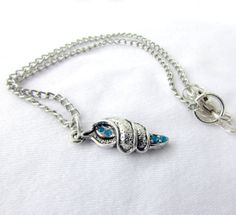 Silver Seashell anklet Sea Shell Charm Anklet by EarthlieTreasures, $14.95