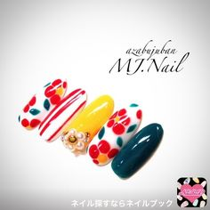 New Year's Nails, Love Nails, Spring Nails, Summer Nails, Nail Polish Designs, Nail Designs, Nails 2017, Seasonal Nails, Japanese Nail Art