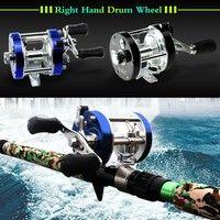 Wish | Full Metal 9+1BB Ball Bearings Right Hand Drum Wheel Boat Sea Fishing Reel Horizontal XW-40 H11465 Fishing gear (Color: Blue)