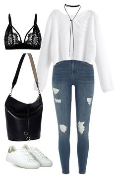 """#257"" by mintgreenb on Polyvore featuring River Island and Cafuné"