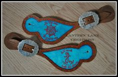 Custom painted spur straps