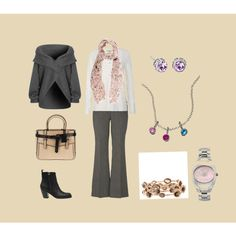 Light pink and gray, created by polyvorian-218.polyvore.com