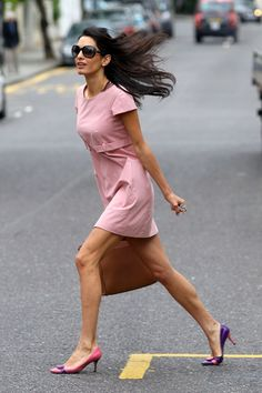 19 Kooky Shoes Amal Alamuddin Would Love #refinery29 http://www.refinery29.com/amal-alamuddin-wedding-shoes#slide9 The two-tone pump Alamuddin's mismatched pumps are difficult to recreate — but we think she'd be into the ladylike, not-too-high heels ahead. She just might buy them in two colors and mix 'em up, because she's different like that.