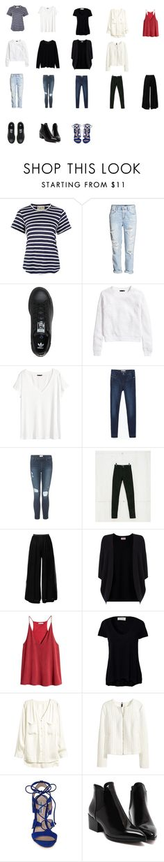 """1"" by cepovalucie on Polyvore featuring Sea, New York, adidas, H&M, Zara, Frame Denim, Bershka, Valentino, Phase Eight, American Vintage and Steve Madden"