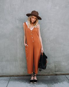 Carnaby Street Pocketed Jumpsuit - Amber – VICI