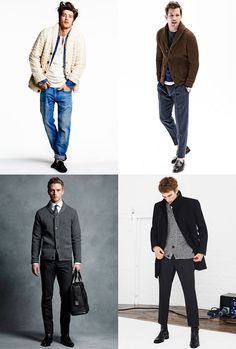 Men's Chunky Cardigans Outfit Inspiration Lookbook bottom left