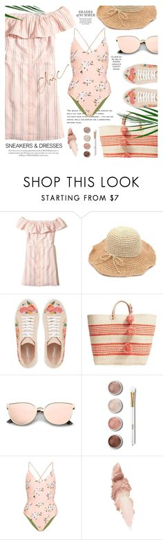 """Sporty chic: sneakers & dresses"" by jan31 ❤ liked on Polyvore featuring Hollister Co., Mar y Sol, Terre Mère, Topshop and Maybelline"
