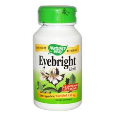 Nature's Way Eyebright Traditional Eye Tonic certified 430 mg 100 capsules Free shipping #Affiliate