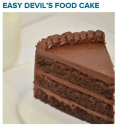 Easy Devil's Food Cake made with Cup-4-Cup brownie mix! Oh my god! Sooo, good. Mix and recipe available at CraftedGlutenFree.com!