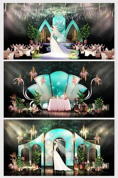 fashion novelty simple emerald green wedding effect map Wedding Backdrop Design, Wedding Stage Design, Wedding Stage Decorations, Wedding Mandap, Wedding Receptions, Hotel Wedding, Emerald Green Weddings, Peach Weddings, New Window Design
