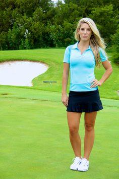 FlirTee Golf Mesh Inlay Polo and Front/Back Pleated Skirt www.flirteegolf.com