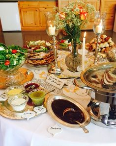 An elegant glass and silver tea party buffet