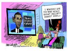 Political cartoon Fox News Obama economy Political and Editorial Cartoons - The Week