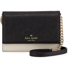 kate spade new york cedar street cami saffiano crossbody bag ($155) ❤ liked on Polyvore featuring bags, handbags, shoulder bags, black shoulder bag, black handbags, crossbody handbags, crossbody purse ve cross body shoulder bags