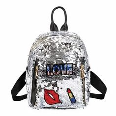 2acff27484c1 2018 Sequins Backpacks for Teenager Girls PU mochila Shine Backpack Glitter  Large Girls Travel Shoulder Bags School Bag female рюкзак