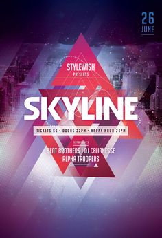 Skyline Flyer by styleWish (Download PSD file)