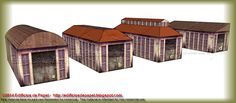 4 roof options for garage    Based on an actual building with large windows, brick built, we have designed a model of role than we think can serve as former industrial garage.