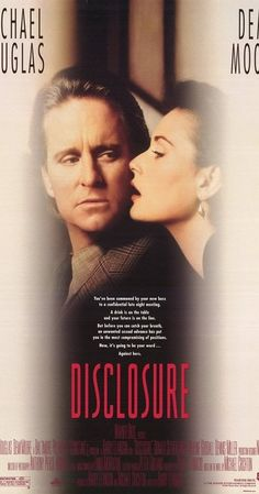 Directed by Barry Levinson.  With Michael Douglas, Demi Moore, Donald Sutherland, Caroline Goodall. A computer specialist is sued for sexual harassment by a former lover turned boss who initiated the act forcefully, which threatens both his career and his personal life.