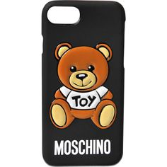 Moschino Pins IPhone 7 cover ($50) ❤ liked on Polyvore featuring accessories, tech accessories, black and moschino